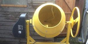 Použitá stavební míchačka Lescha 500W 230V 140 litrů na prodej